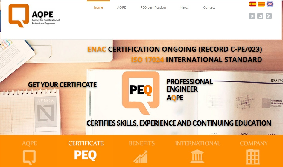 The Committee of Certification Scheme in Engineering AQPE ENAC